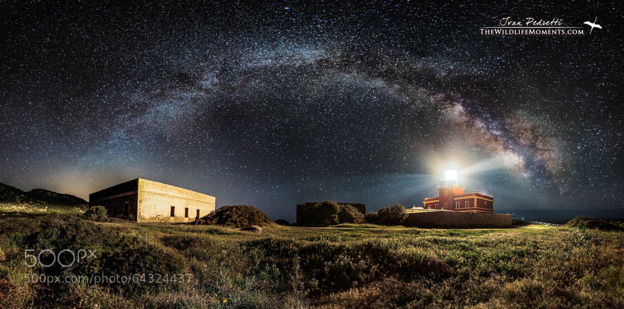 Photograph Starry lighthouse by Ivan Pedretti  on 500px