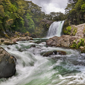 Tawhai Falls by Chris Jones (Tannachy)) on 500px.com