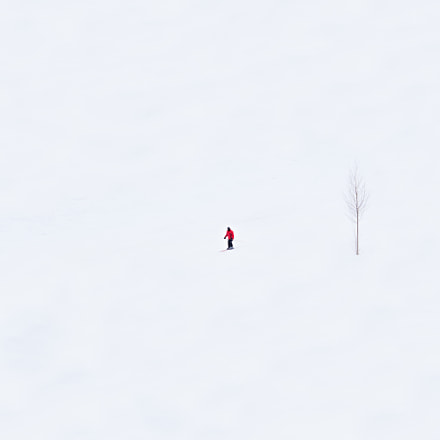 Skier in Red