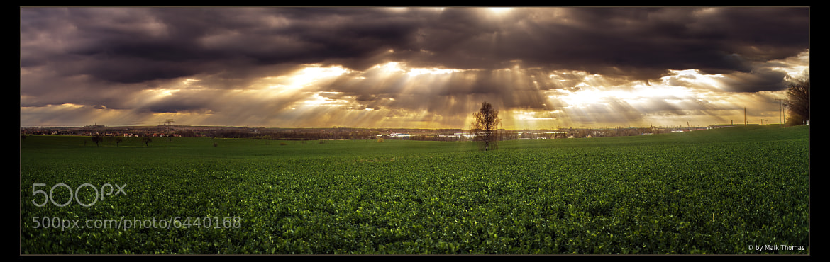 Photograph Lights over the Land Panorama by Maik Thomas on 500px