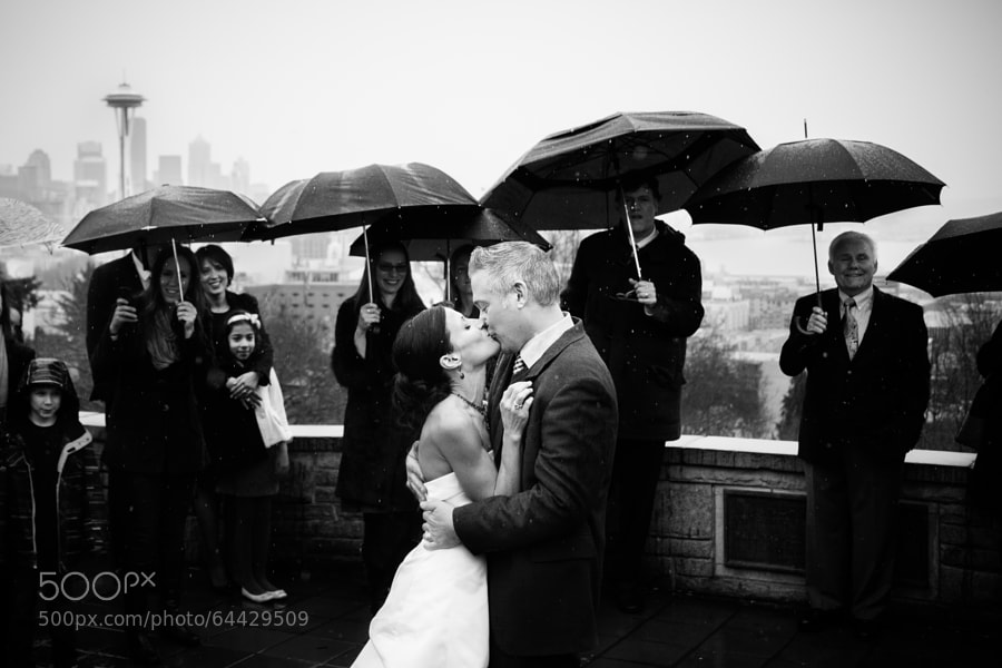 Photograph Seattle Wedding in the Rain by Ryan Melton on 500px