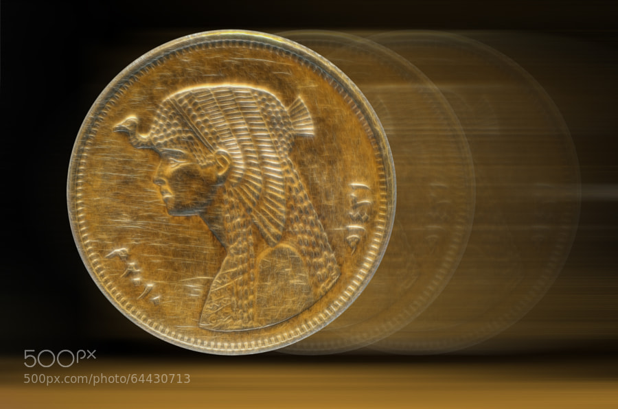 Egyption Coin , half a pound