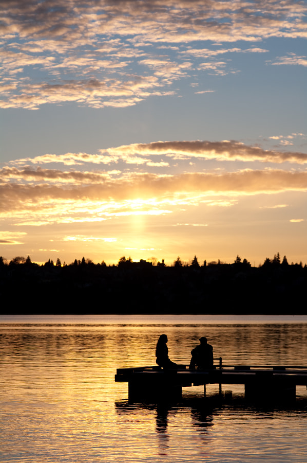 Photograph Sunset at Green Lake by Chris Wilhelm on 500px