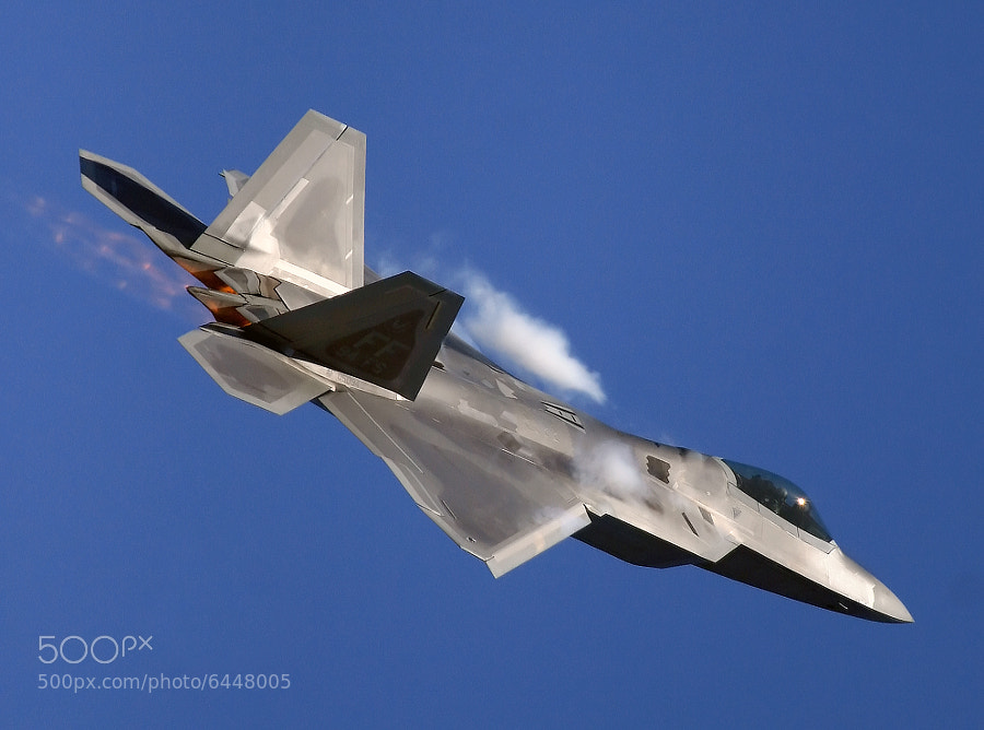 The production model of the F-22 was unveiled fifteen years ago today, 9 April 1997.  This example was photographed at the 2009 Air Power Over Hampton Roads (VA) Air Show.