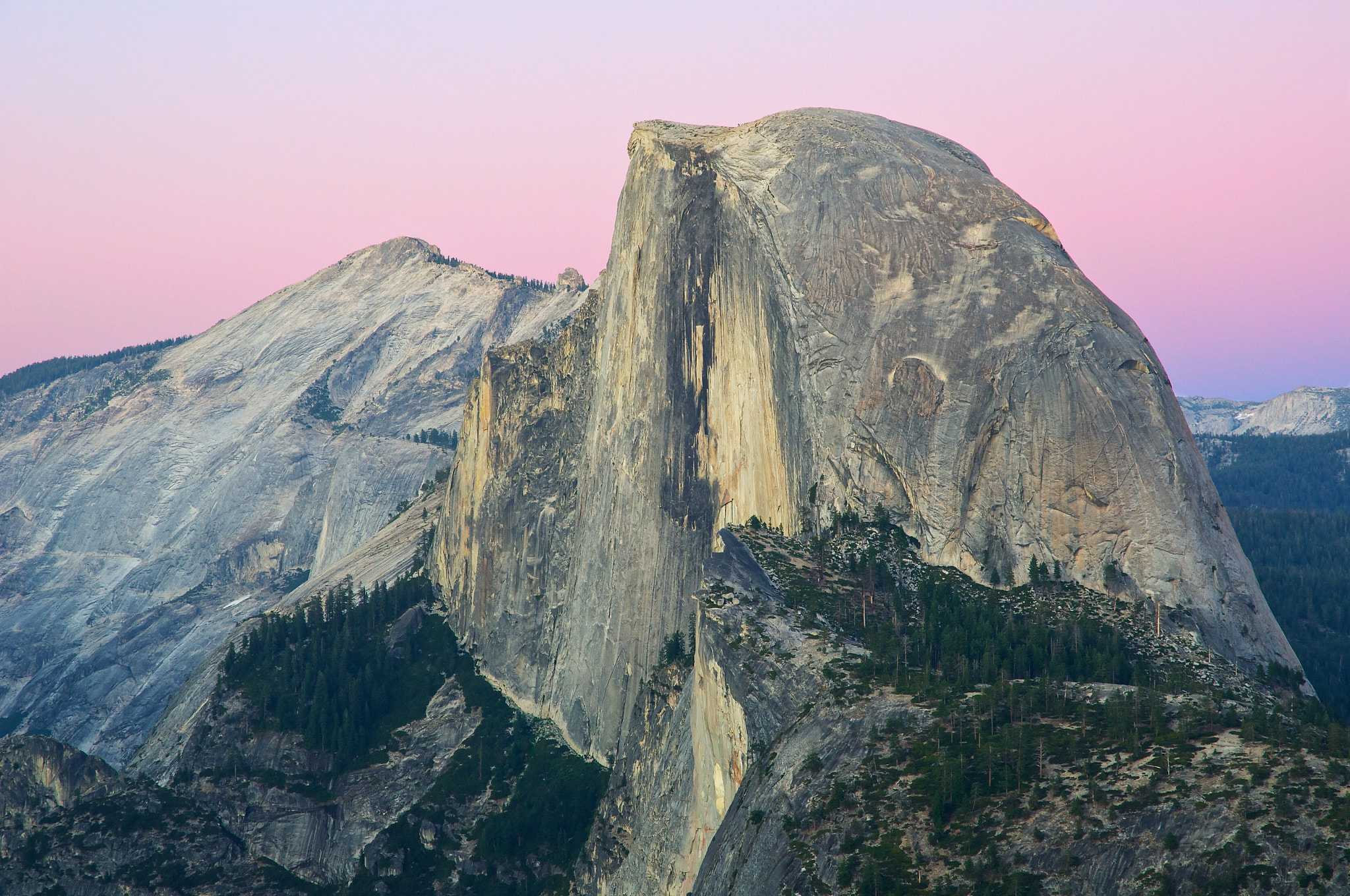 Photograph Half Dome with Purple Skies by John Baggaley on 500px