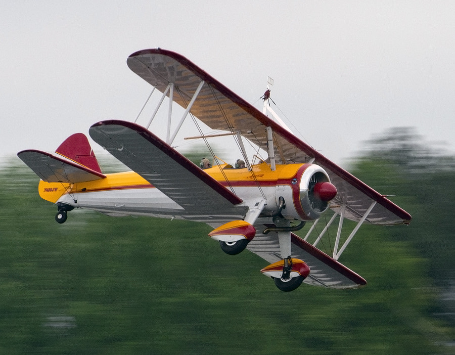 Jane Wicker's Stearman bi-plane called Aurora