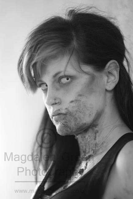 Photograph Black and White Zombie Girl  - Dee-Con 2012 - University of Dund by IainGordon on 500px