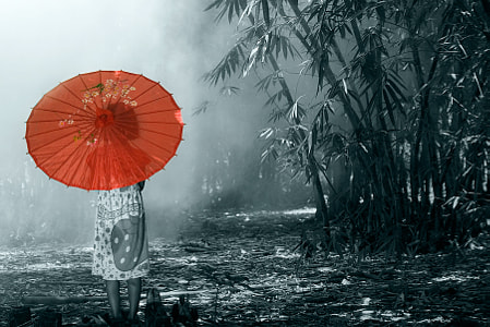 the RED umbrella.... by dewan irawan