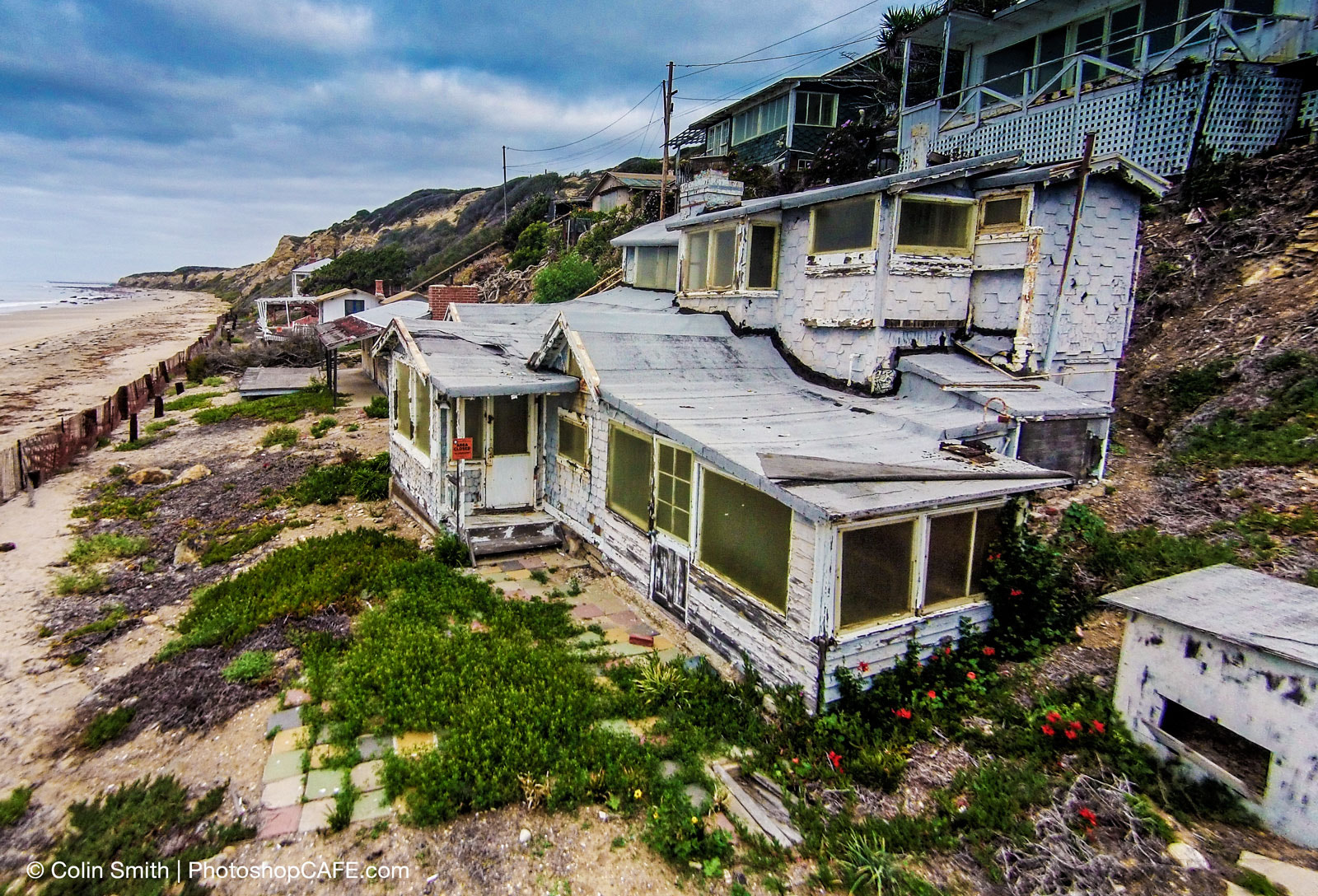 Photograph Condemned beach house from the air by Colin Smith on 500px