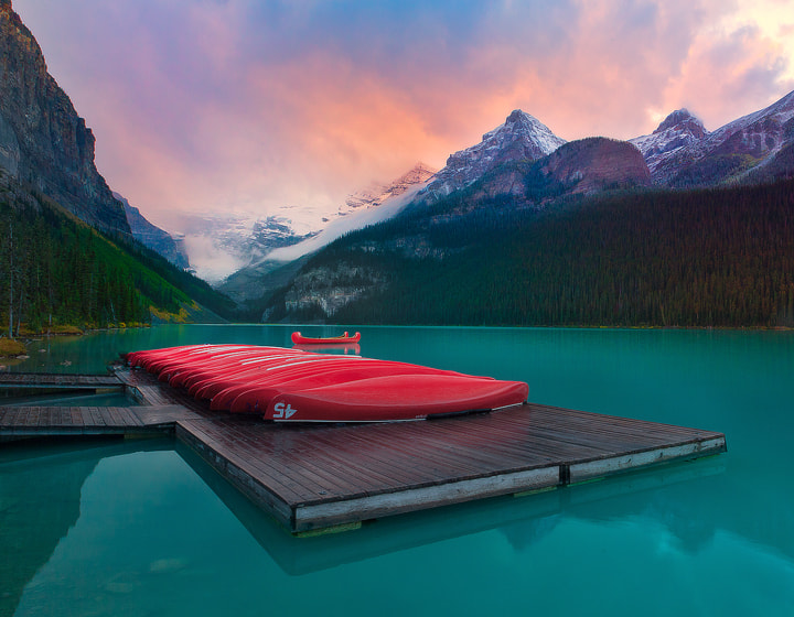 Photograph Lake Louise On Fire by Kevin McNeal on 500px