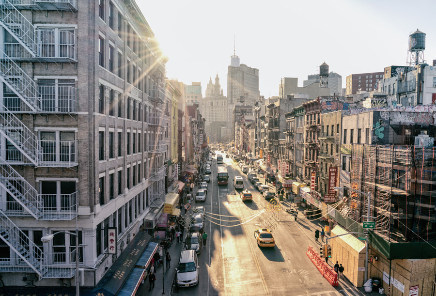 Photograph New York City Sunset Over East Broadway Chinatown by Vivienne Gucwa on 500px