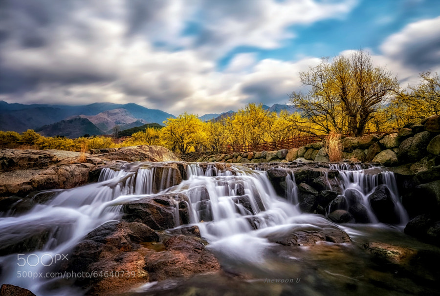 Photograph Spring waterfall by Jaewoon U on 500px