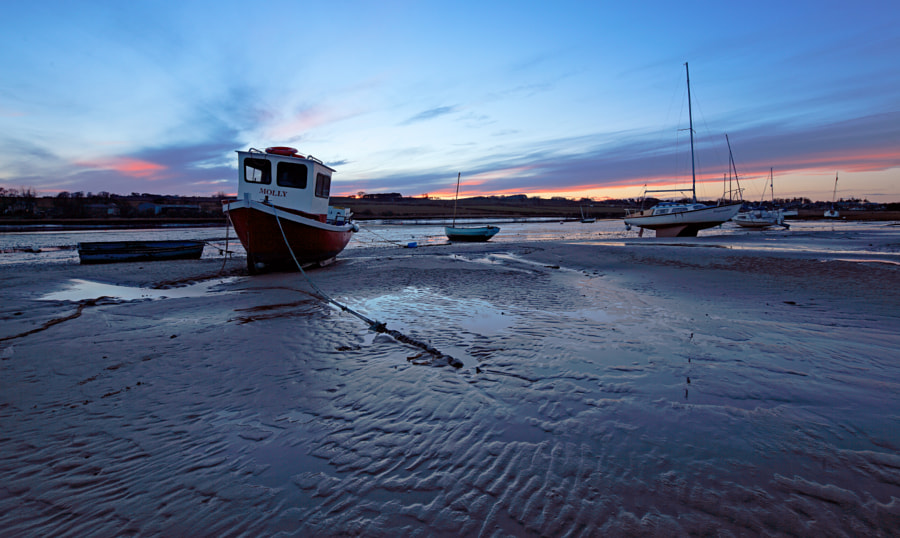 Sunrise at Low Tide, Alnmouth