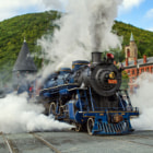 Постер, плакат: Steam Train in Jim Thorpe PA
