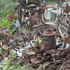 This is a locals house / junk collection in Summerland, California.