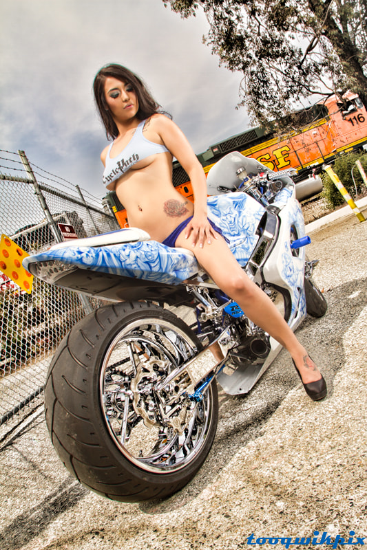 Photograph barbie bre with gsxr  by Tooqwikpix on 500px