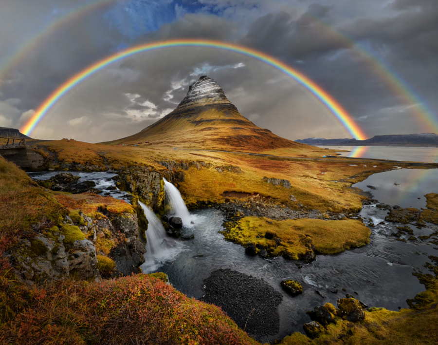 Photograph Rainbow over Kirkufell by Peter Hammer on 500px
