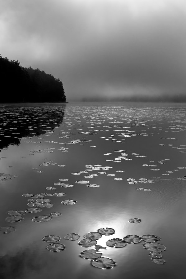 Morning on the lake in the Adirondacks of upstate New York
