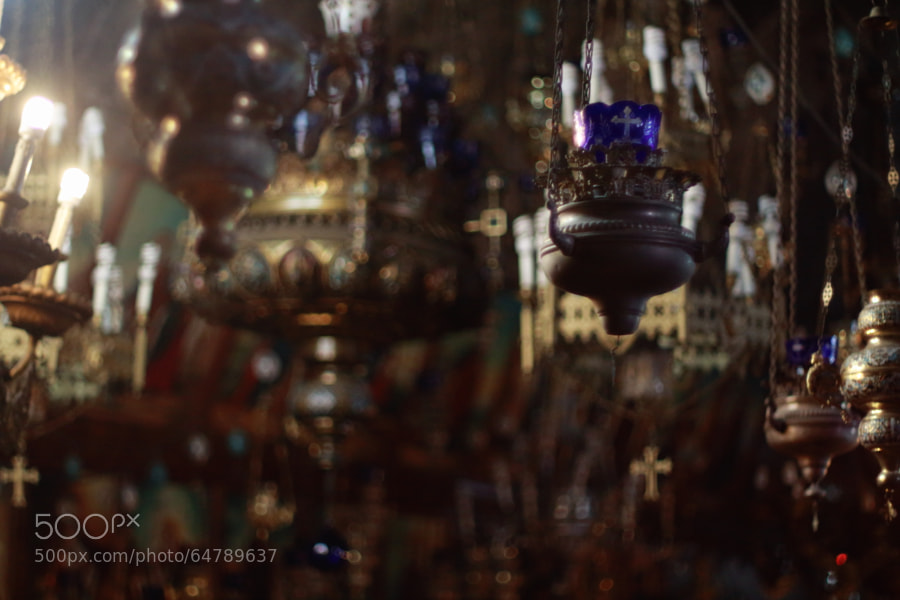 Photograph Hanging Lamps (Tomb of the Virgin Mary) by Jeff Carter on 500px