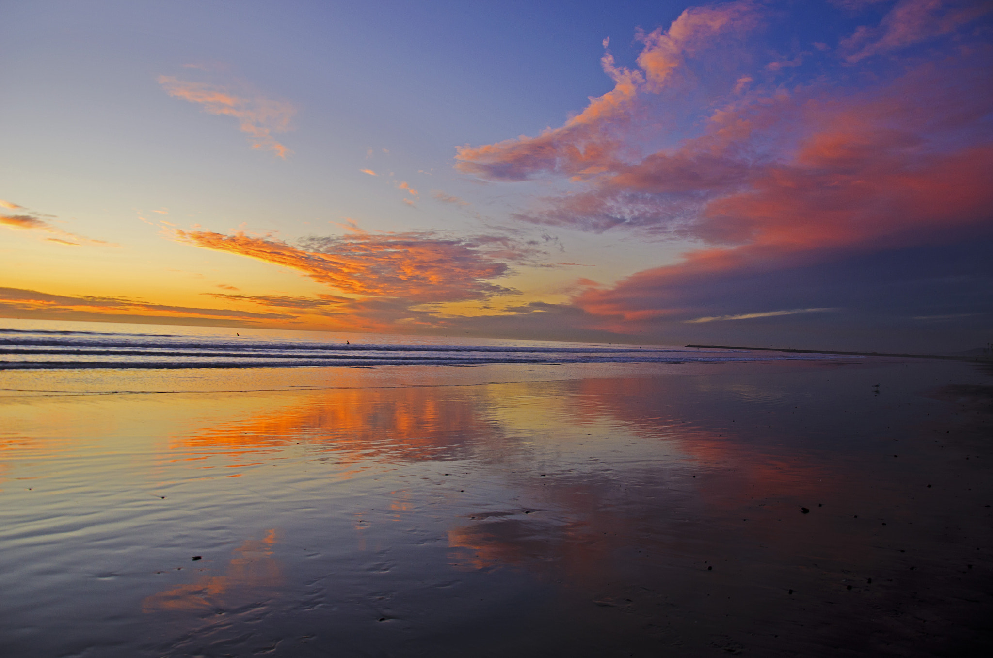 Photograph Reflections at low tide in Oceanside.  by Rich Cruse on 500px