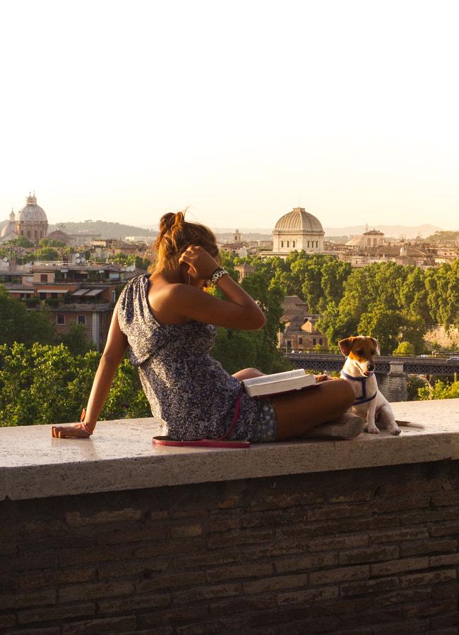 Woman Reading at Giardino degli Aranci, Rome