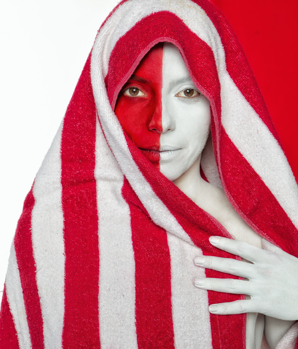 Photograph Red and White Portrait by Adam Silversmith on 500px