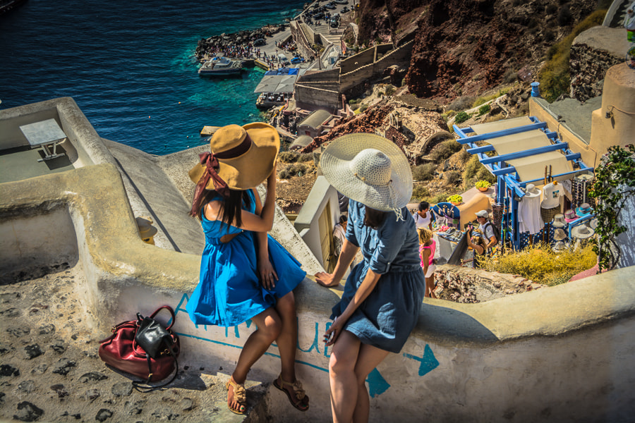 Photograph Tourists in Santorini by John Mottola on 500px