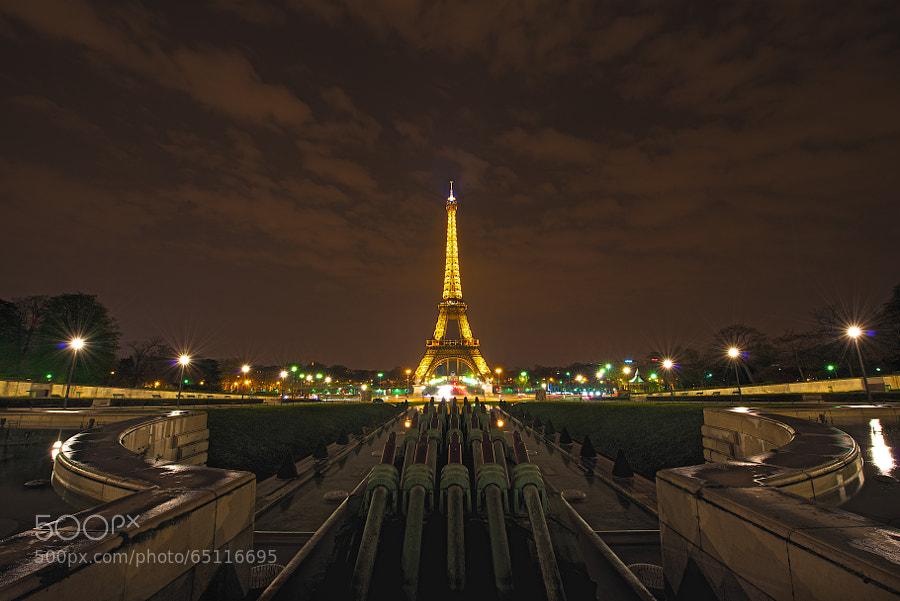 Eiffel Tower viewed from Trocadero.