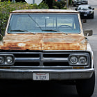 A classic rusted Chevy truck in Summerland, California.