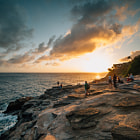 Постер, плакат: Sunset @ Spitting Caves Hawaii