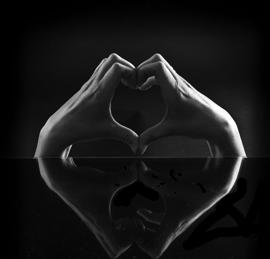 Heart reflection.