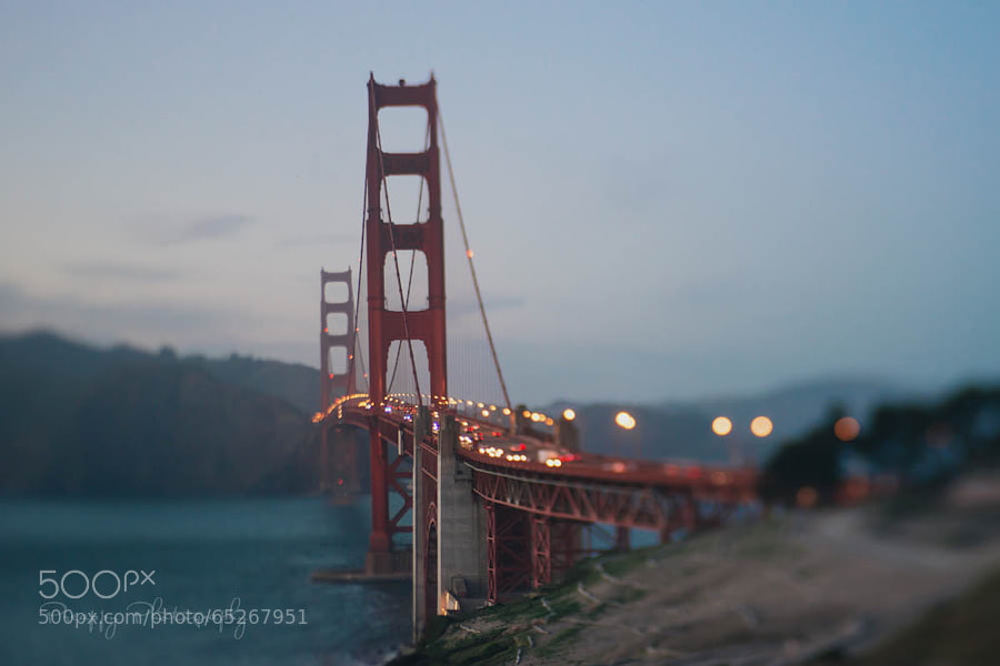 Photograph Golden Gate Bridge at Dusk by Preappy  on 500px