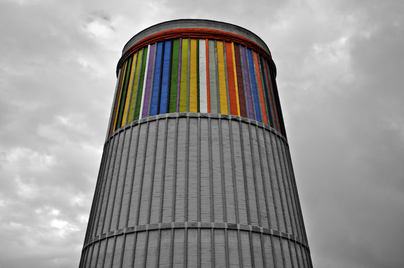 Photograph Full colored museum former industrial chimney by Ismael Salmerón on 500px