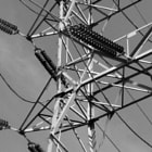 One of the many electricity towers that web throughout the San Fernando Valley. This one is in Tarzana, California.