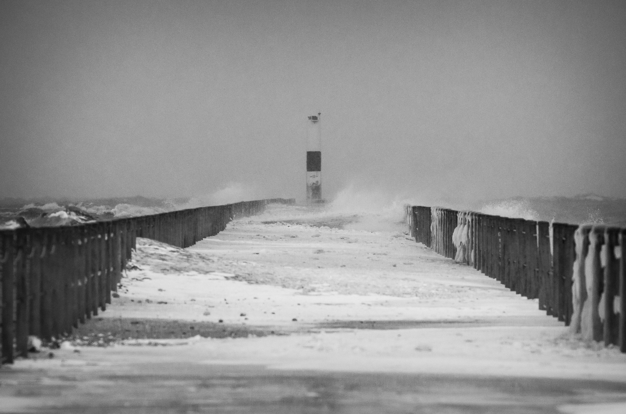 Photograph Lake Ontario Pier in a Storm by Steve Losh on 500px