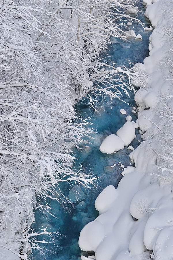 Photograph Blue River in January by Kent Shiraishi on 500px