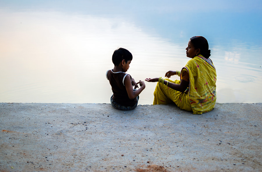 Mother-son talking to by Gajendra Pal Choudhary on 500px.com