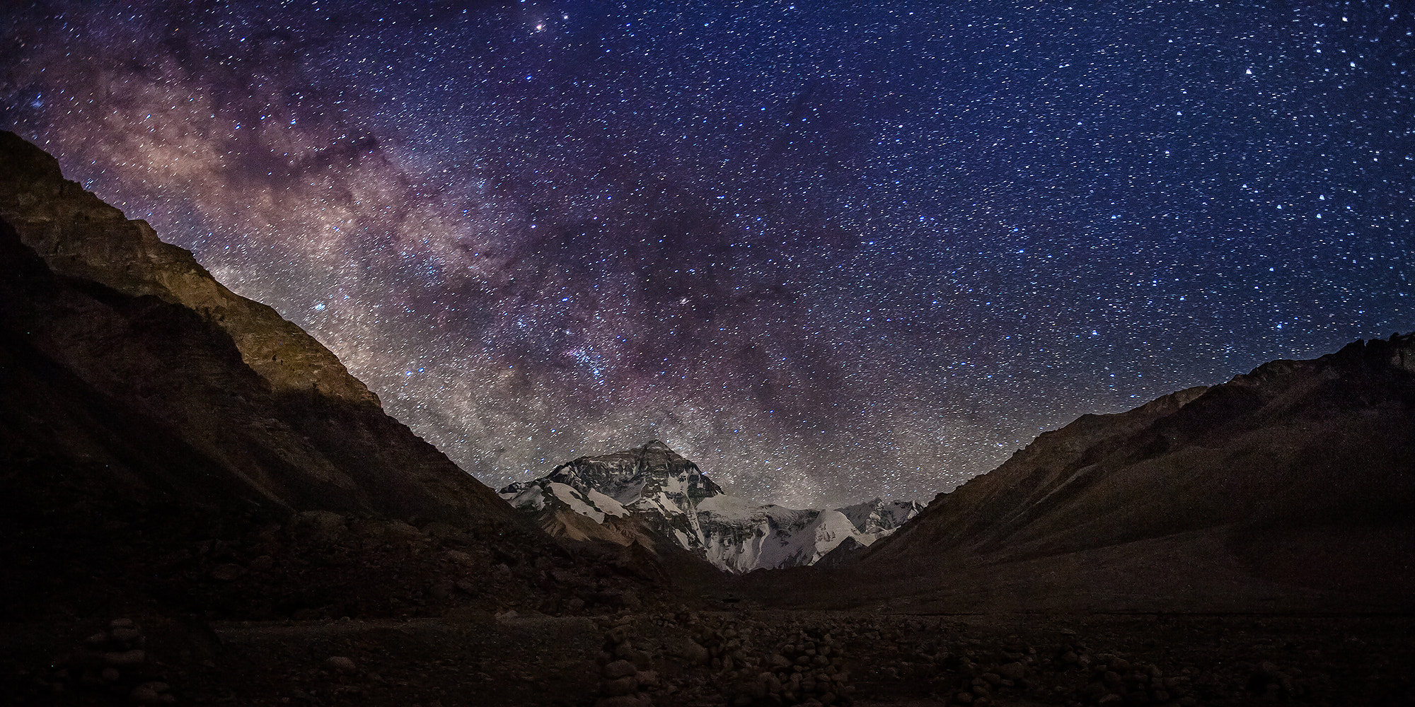 Photograph Partial milky way over mt. Everest by Coolbiere. A. on 500px