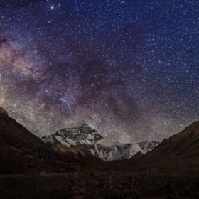 Partial milky way over mt. Everest by Coolbiere. A. on 500px.com