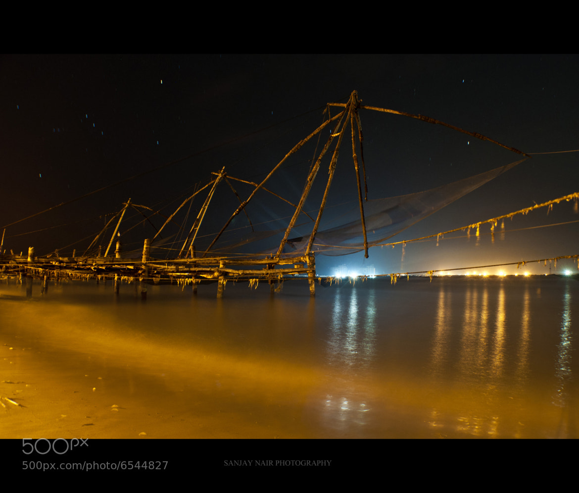 Photograph Chinese fishing nets,Fort Kochi by Sanjay  Nair on 500px
