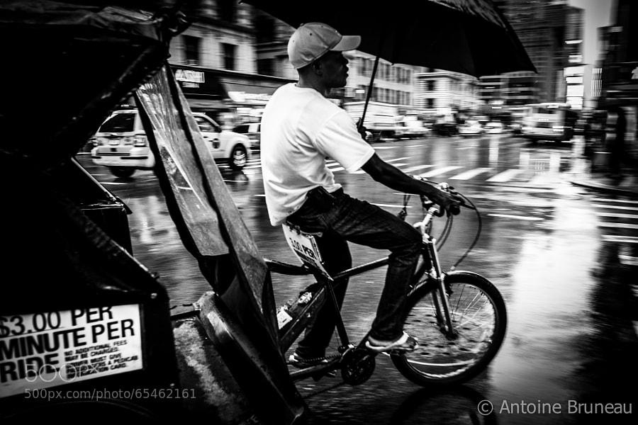Photograph New York Rainy Ride by Antoine BRUNEAU on 500px