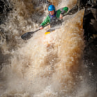 Постер, плакат: Canoeist at Low Force