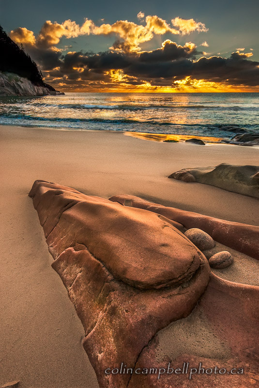 Photograph Black Brook Cove Sunrise by Colin Campbell on 500px