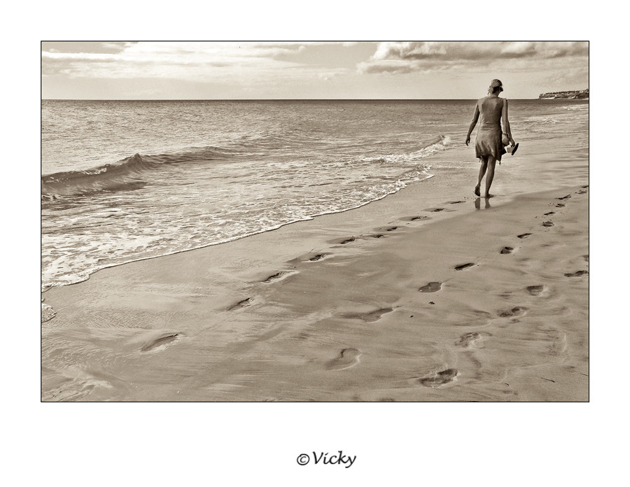 Photograph alone at the beach by Vicky Dens on 500px