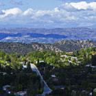 A fantastic view of the San Fernando Valley from the hills of Tarzana, California.