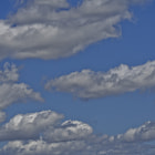 Clouds over the sky in the San Fernando Valley.