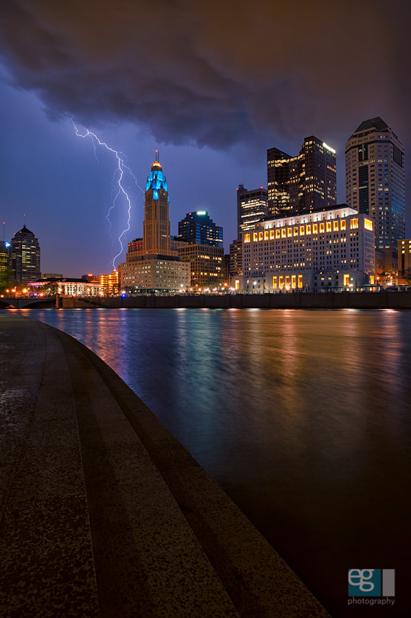 Photograph Crackle on the Scioto (blue) by Ed Gately on 500px