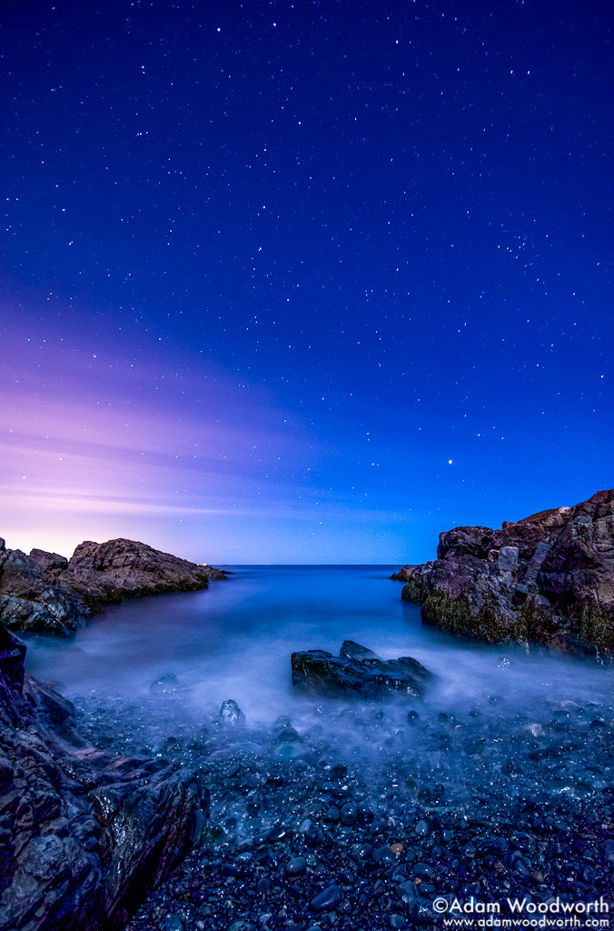 Photograph Night on the Marginal Way by Adam Woodworth on 500px