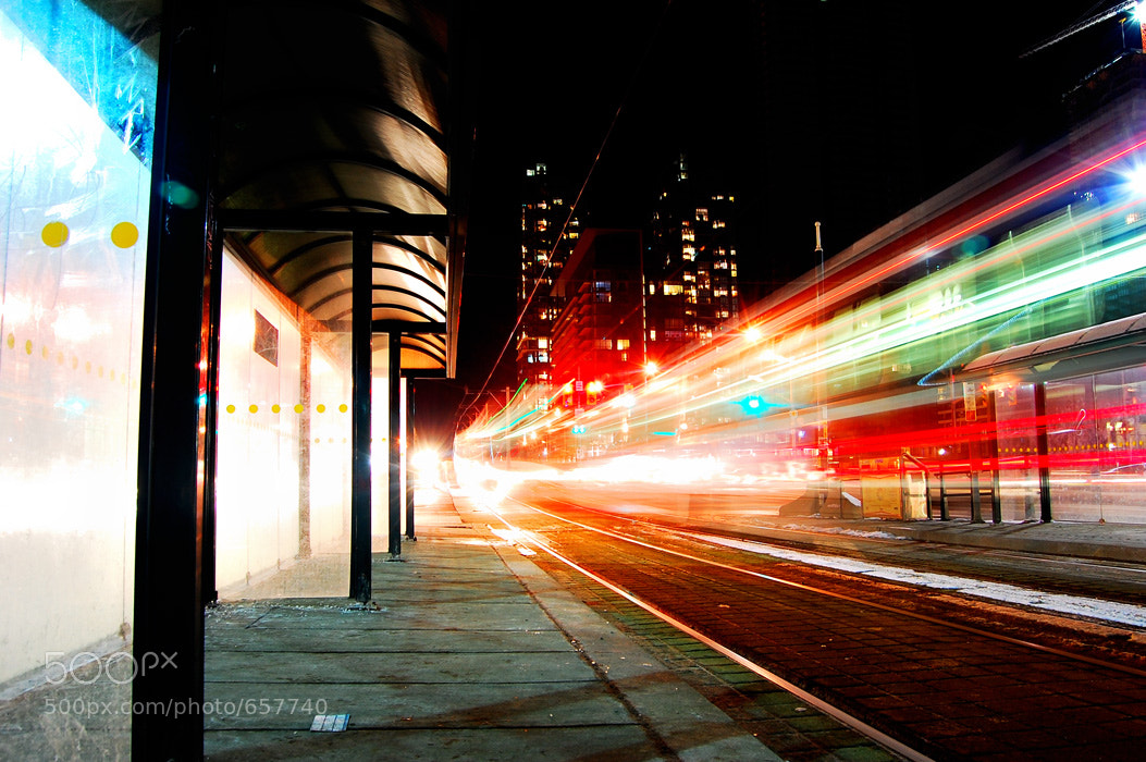 Photograph Street Car Trails by Passionate  Torontonian on 500px