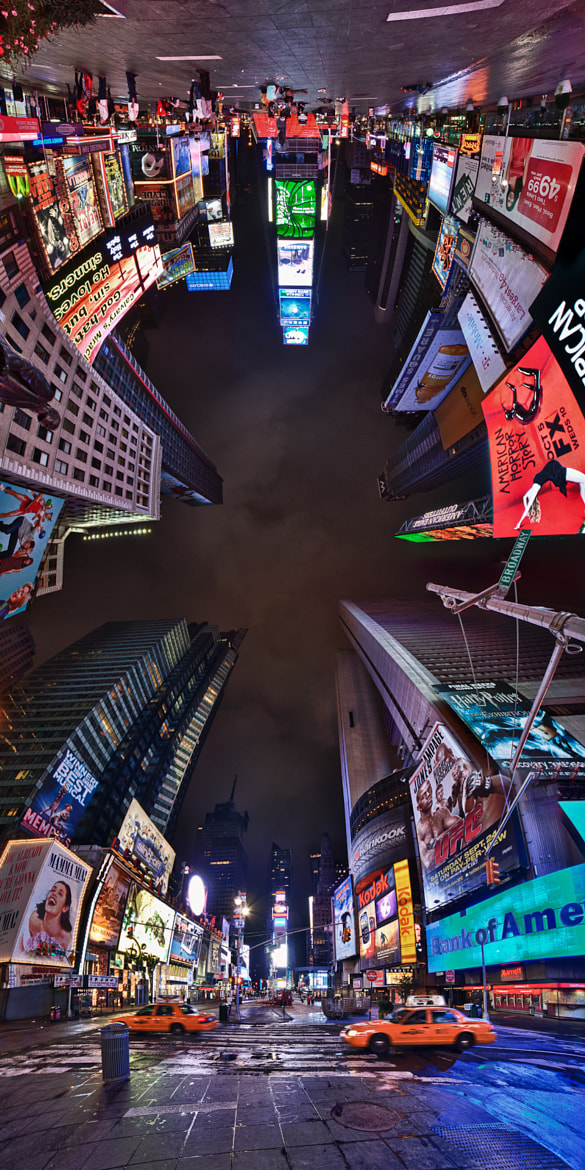Photograph Times Square Upside-Down Panorama by Dr. Martin Zeile on 500px